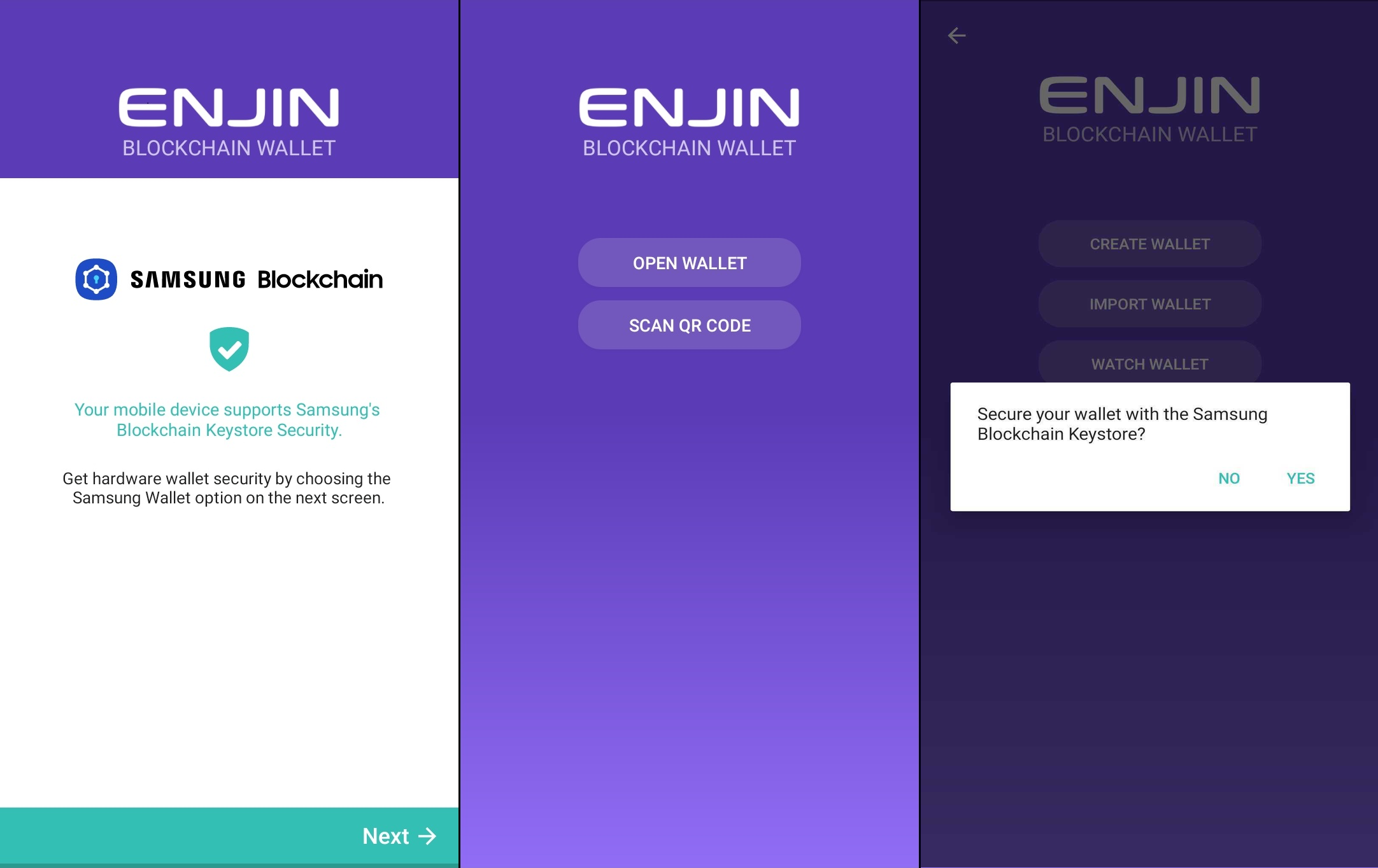 Enjin - especially secure on Samsung devices