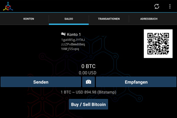 Send and receive Bitcoin