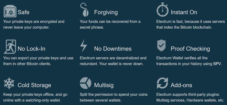 Electrum Features & Extras