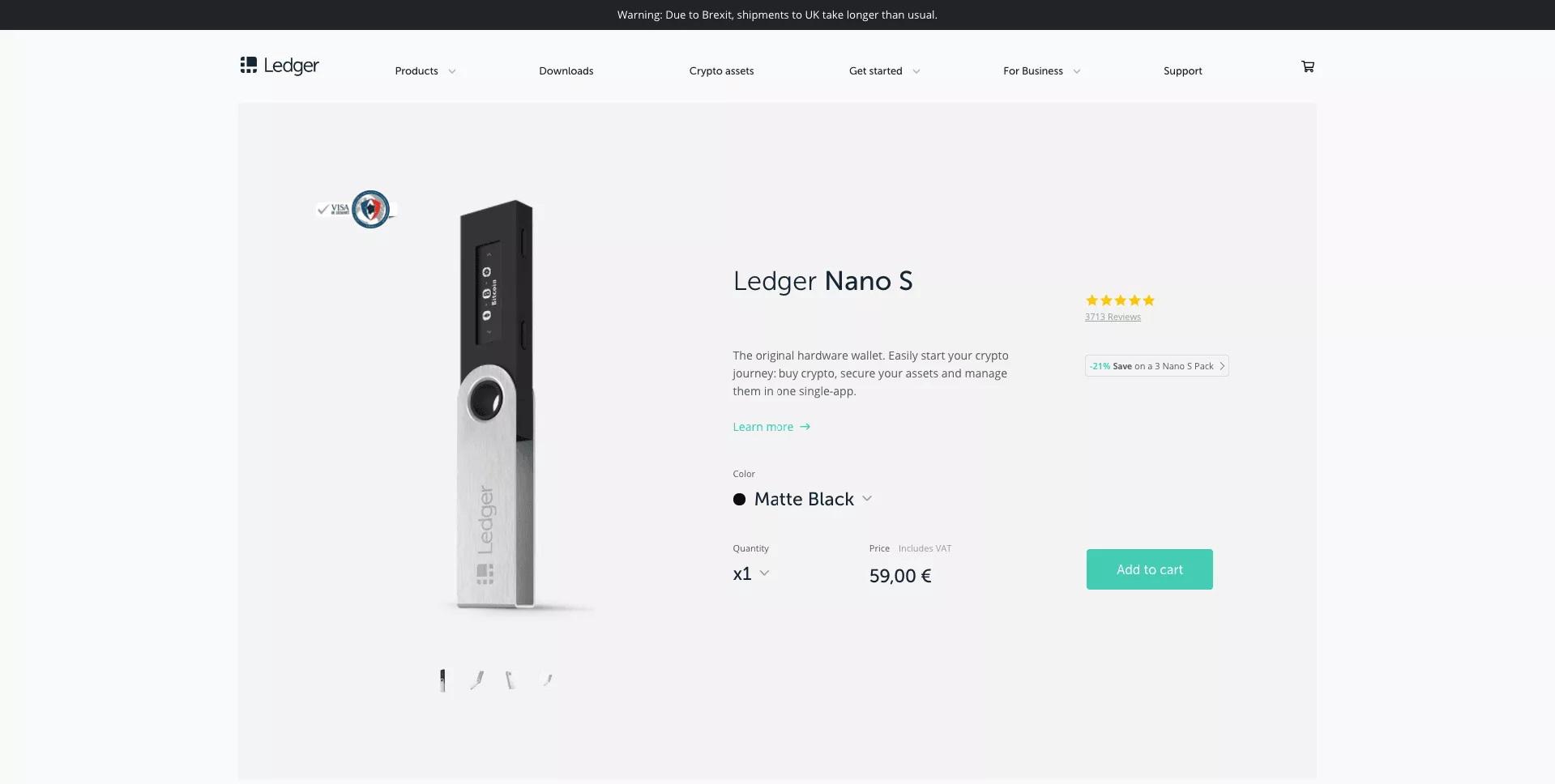 Ledger Nano S Wallet Price