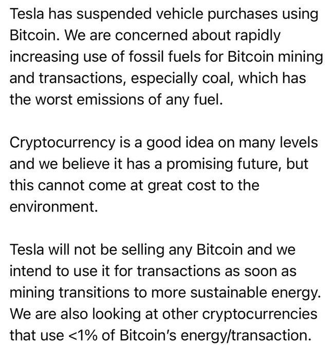 Musk's bitcoin