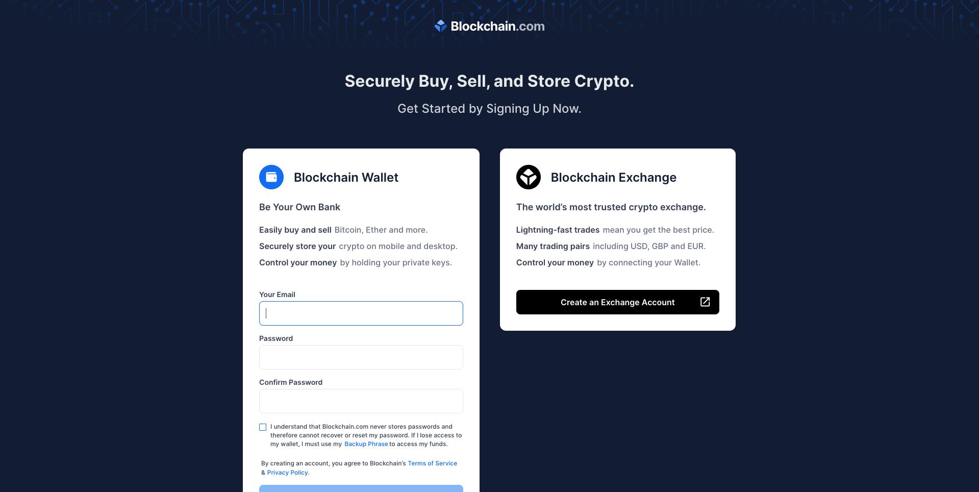 send Blockchain.info