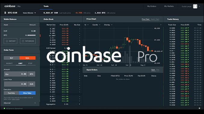 Coinbase Pro experiences