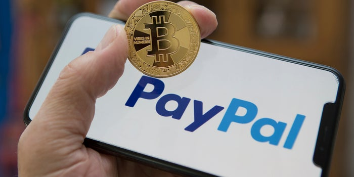 Cryptocurrencies with PayPal