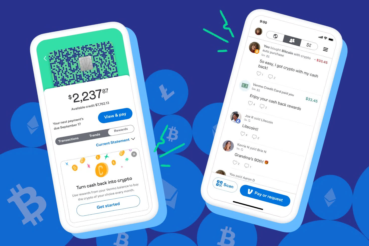 Venmo launches automatic purchase of cryptocurrencies for cashback