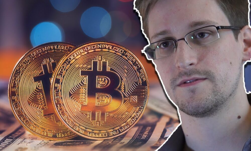 Edward Snowden sees China's crackdown as a plus for bitcoin